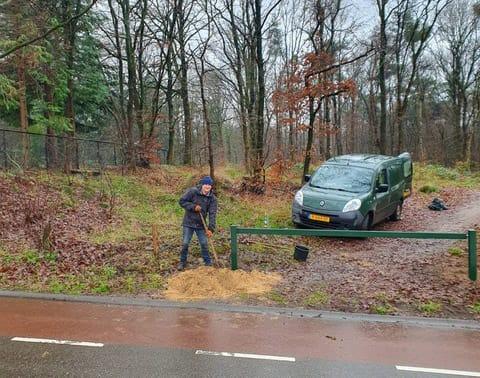 Nieuwe afsluitingen in het Luntersche Buurtbosch